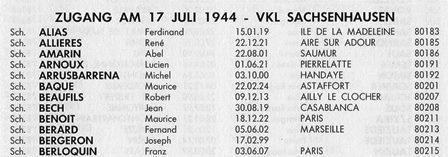 Mémorial annuaire des Français de Dachau